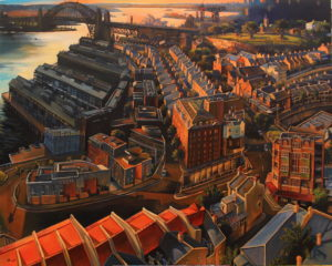 People's Choice Prize   Jane Bennett, Millers Point from the Top of the Harbour Tower