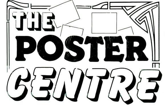 Black and white text that states 'The Poster Centre'