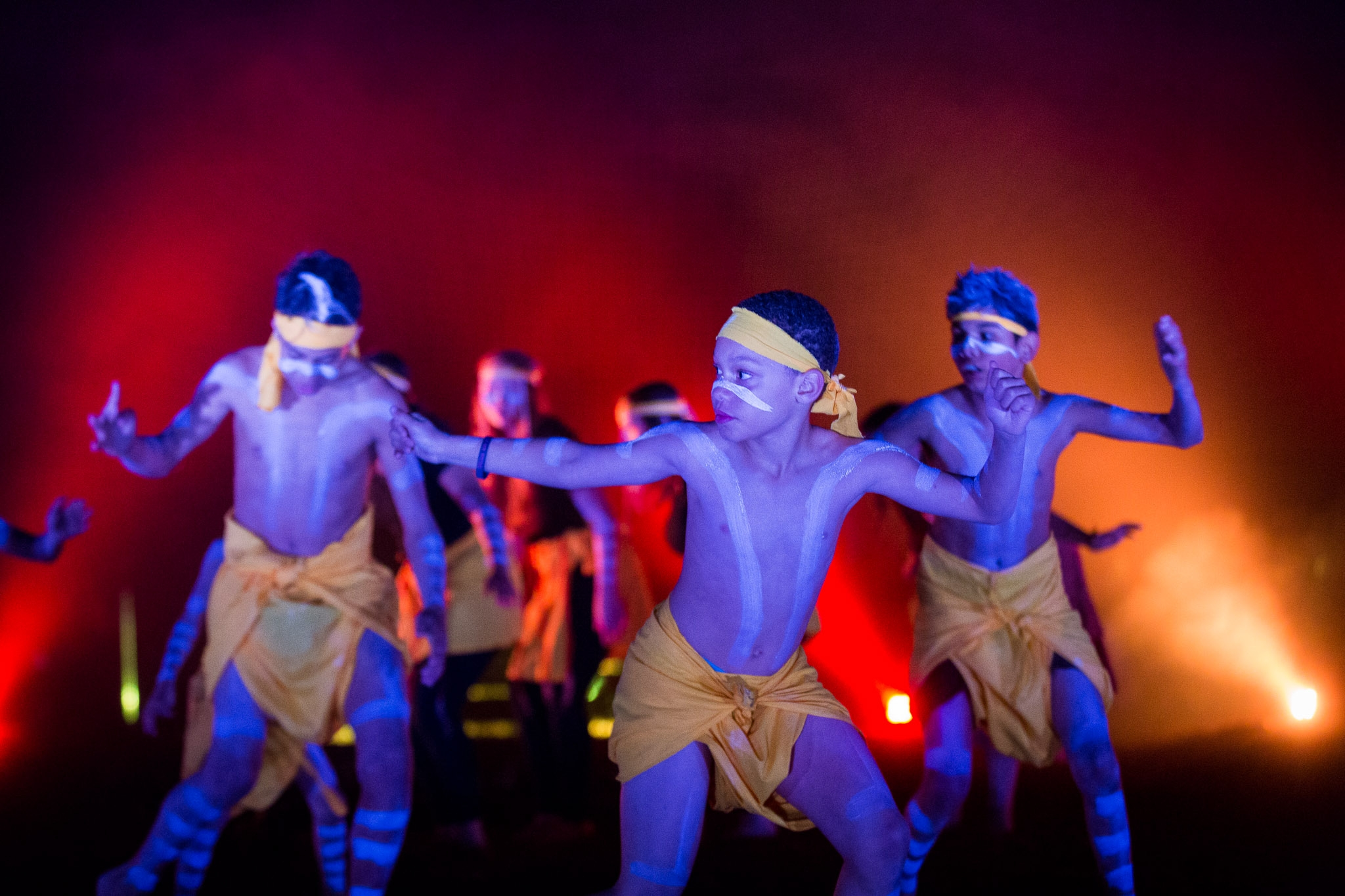 Young boys doing cultural dance