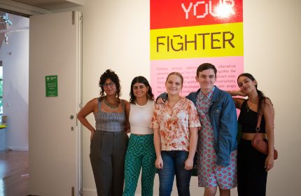 Artists as part of Choose Your Fighter exhibition