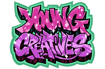 'Young Creatives' written in graffiti style